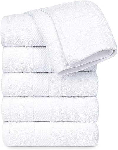 White Classic Egyptian Cotton Hand Towels (Set of 6)