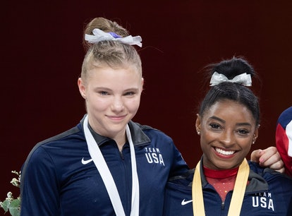 Simone Biles' advice to Jade Carey before floor came from experience.