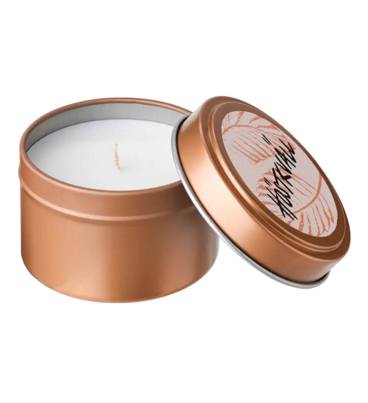 Scented Candle In Metal Cup
