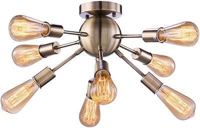 Elibbren Vintage Semi Flush Mount Ceiling Light