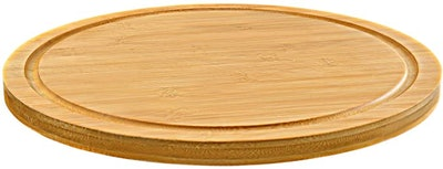 AUAM Solid Bamboo Lazy Susan Turntable