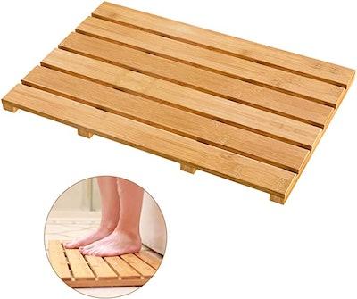 Bamfan Non-Slip Bamboo Bath Mat