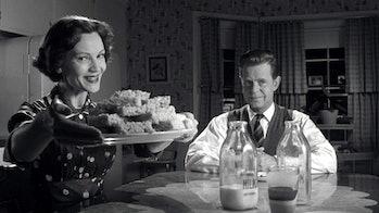 Joan Allen and William H. Macy in Pleasantville