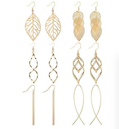 Anlsen Drop Dangle Earrings (6- Pairs)