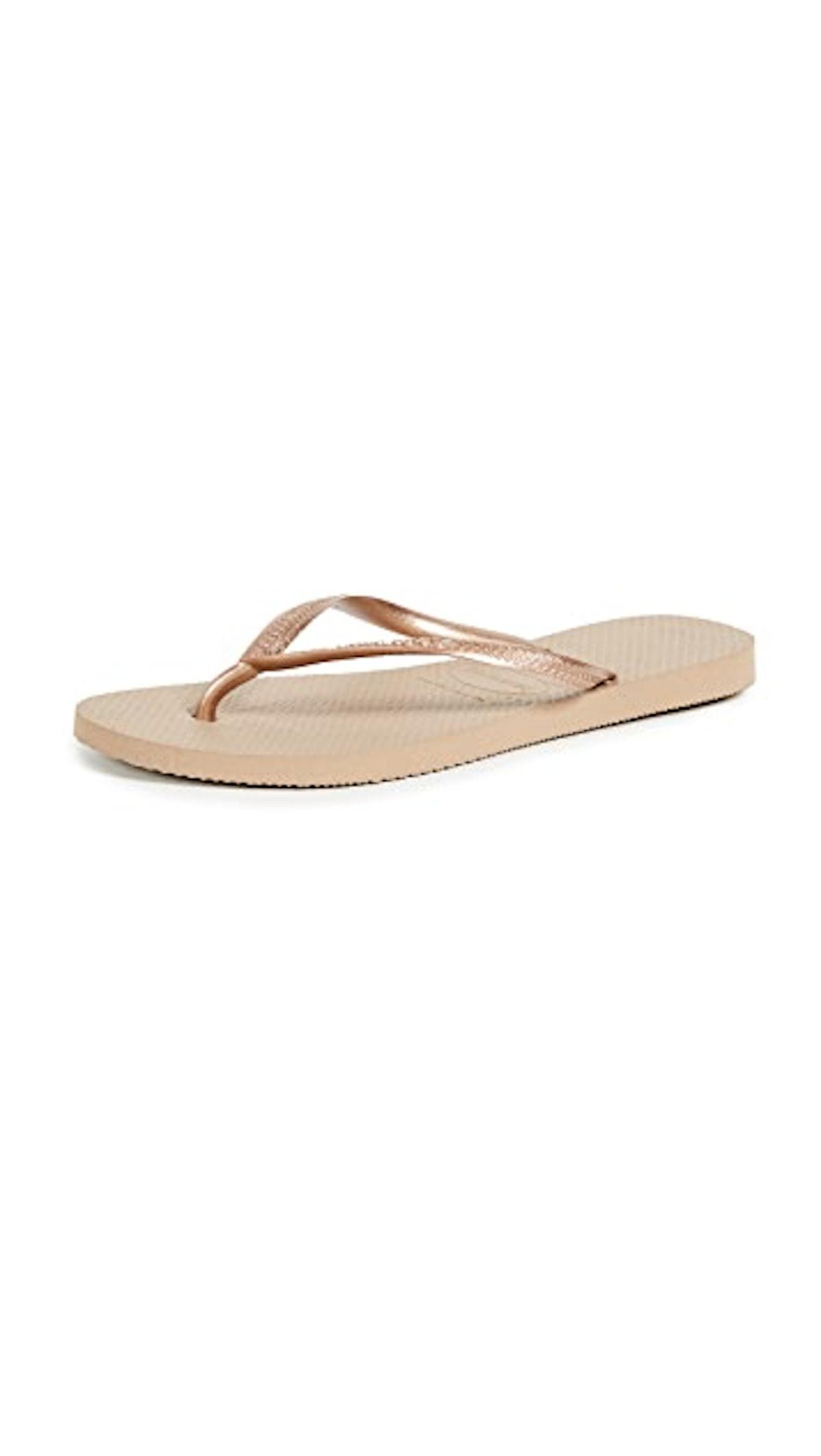 Havaianas gold flip-flops