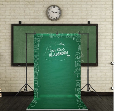 Personalized Class Room Backdrop, Back To School