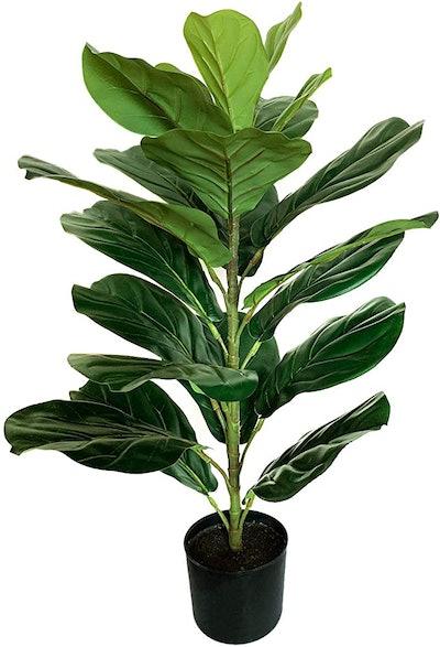 BESAMENATURE Artificial Fiddle Leaf Fig Tree