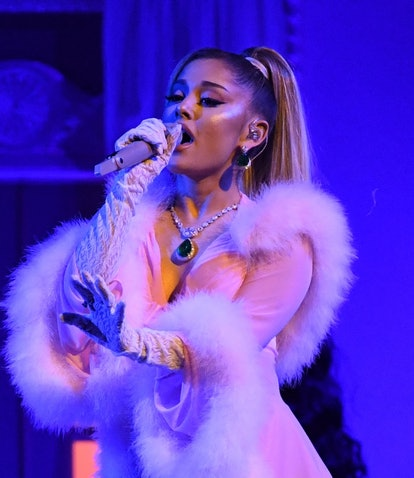 US singer-songwriter Ariana Grande performs during the 62nd Annual Grammy Awards on January 26, 2020...