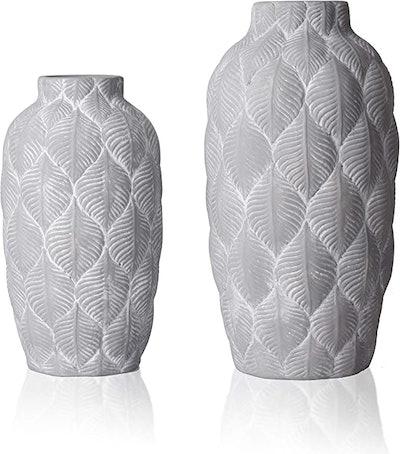 TERESA'S COLLECTIONS Rustic Ceramic Vase (Set of 2)