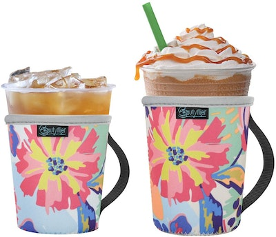 Beautyflier Reusable Cup Insulator Sleeve with Handle (2-Pack)