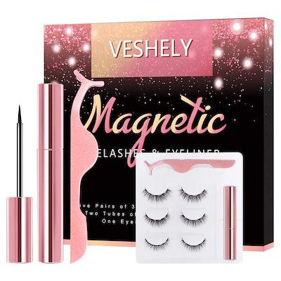 VESHELY Magnetic Eyelashes with Eyeliner Kit