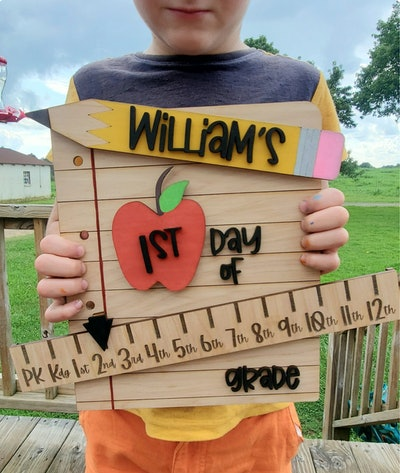 First Day of School Sign - Back To School - Reusable