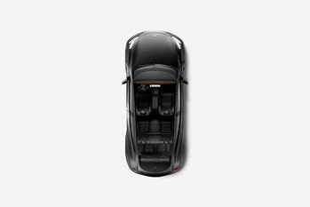 The Tesla Model Y from above.