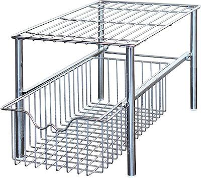 DecoBros Stackable Under Sink Cabinet Sliding Basket