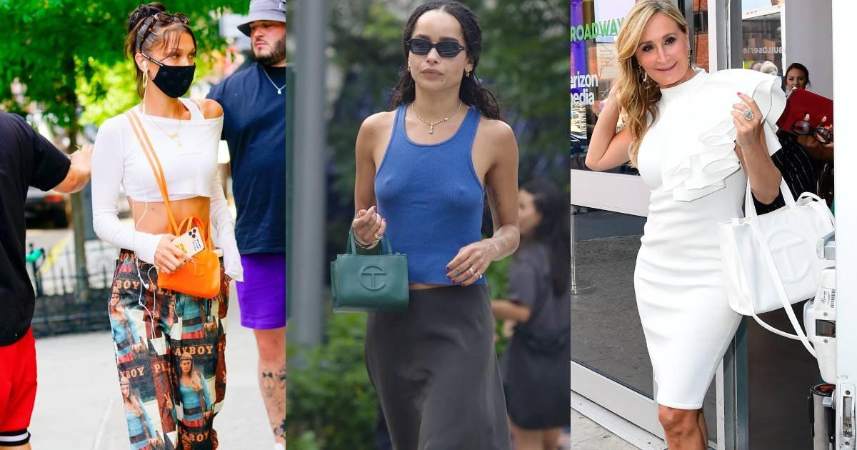Celebrities with Telfar bags.
