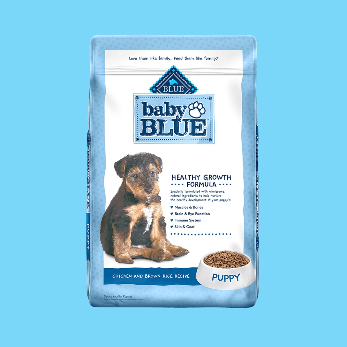 Baby Blue Natural Chicken and Brown Rice Recipe Dry Puppy Food, 24 lbs.