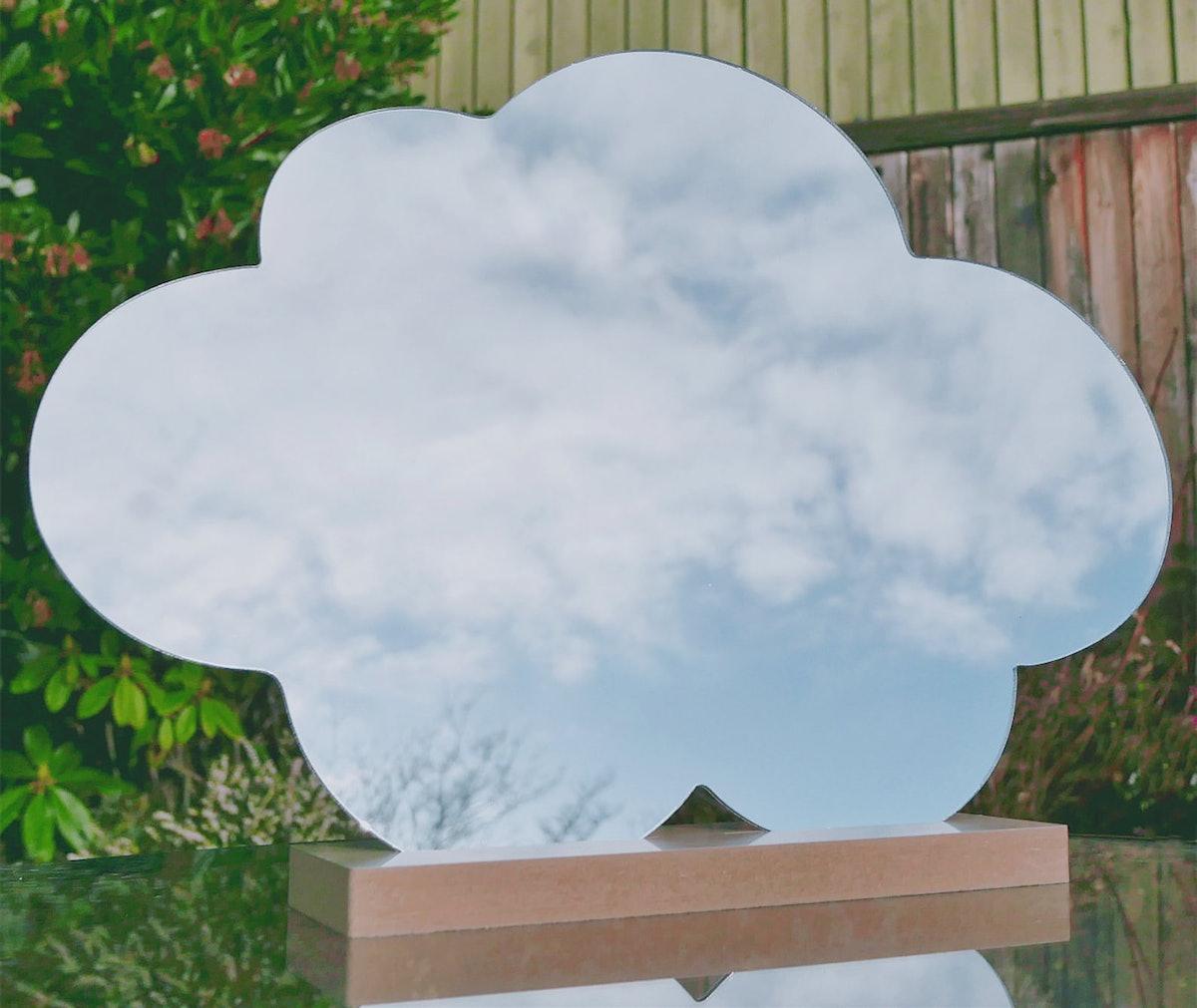 Decorative Mirror In Irregular Shape, Cloud