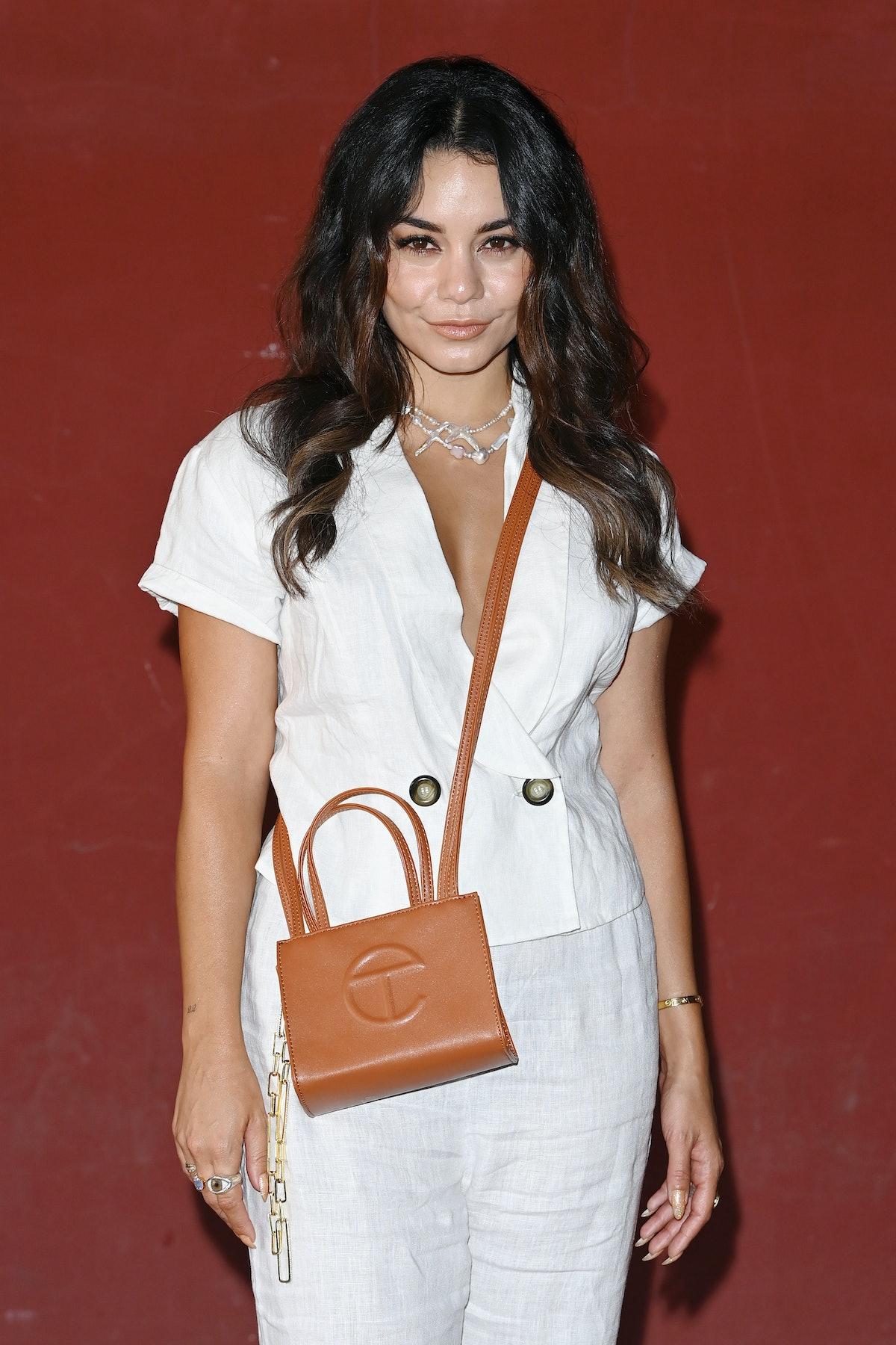 Vanessa Hudgens with a Telfar bag.