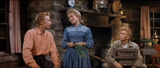 Seven Brides for Seven Brothers premiered in theaters in 1954 and on Broadway in 1984.