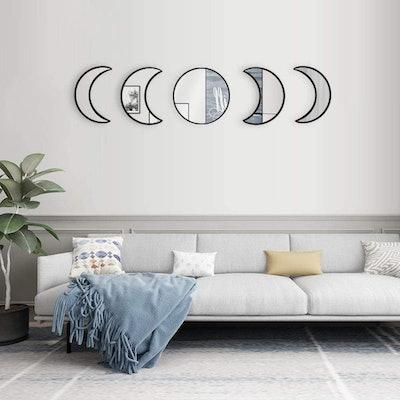 Wrolem Moon Phase Mirrors (Set of 5)