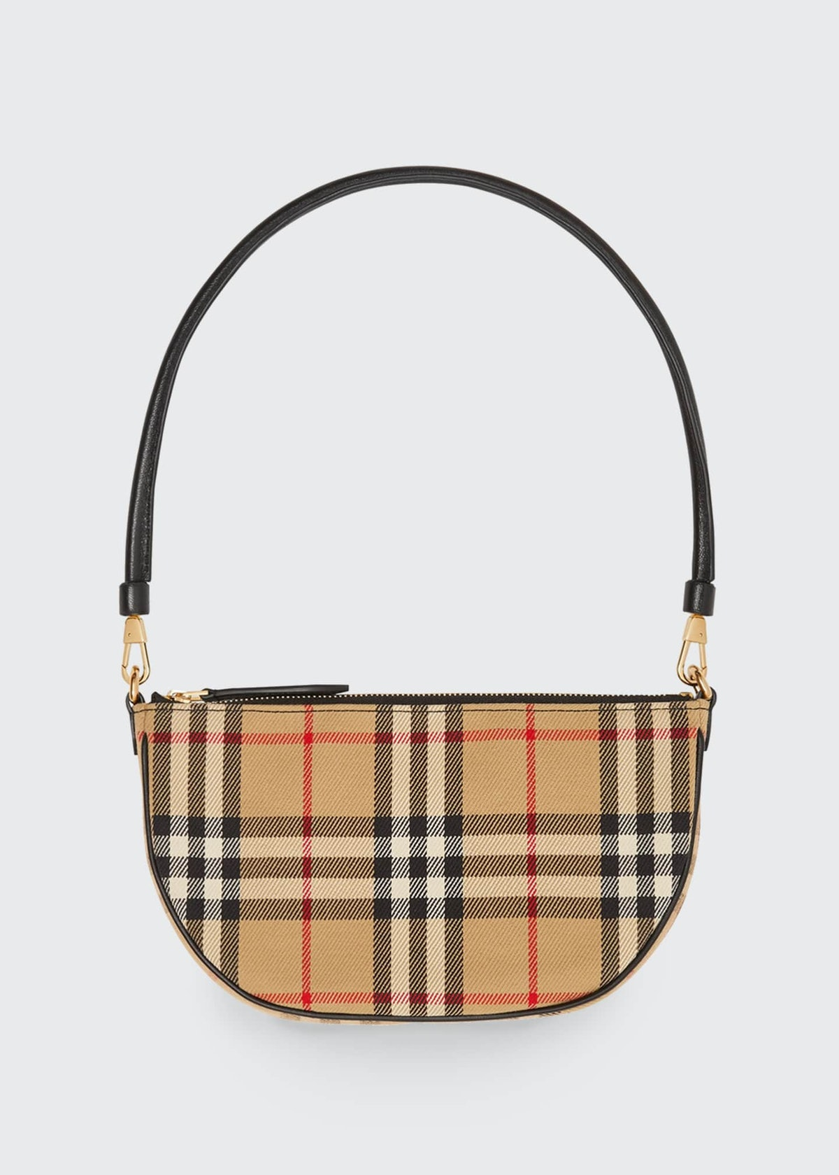 Olympia Vintage Check Slim Pouch Shoulder Bag from Burberry.