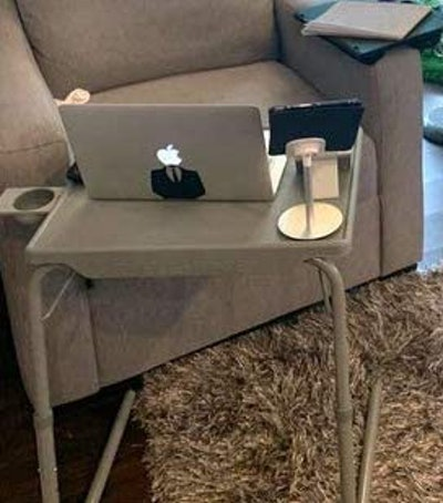 Table Mate II Folding TV Tray Table and Cup Holder