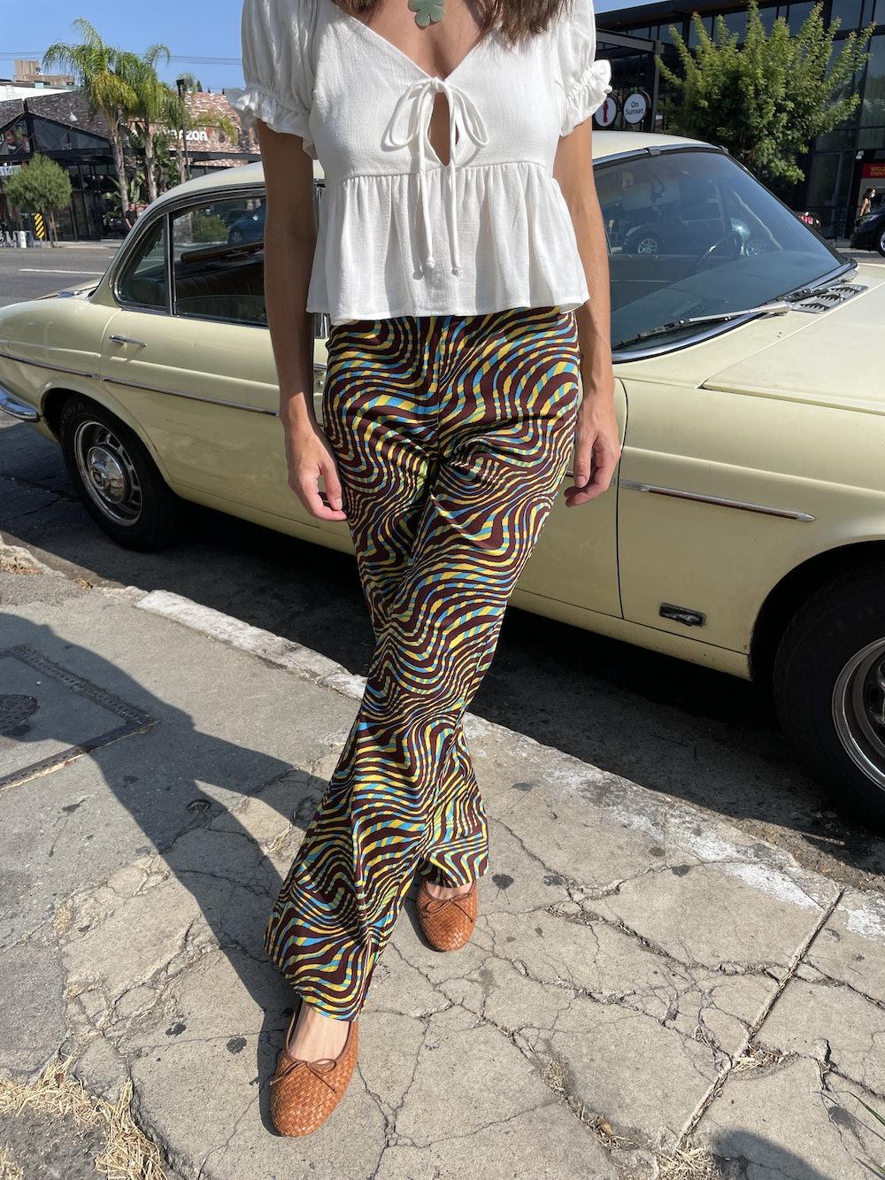 Gimaguas Disco Pant in Zebra Blue & Brown