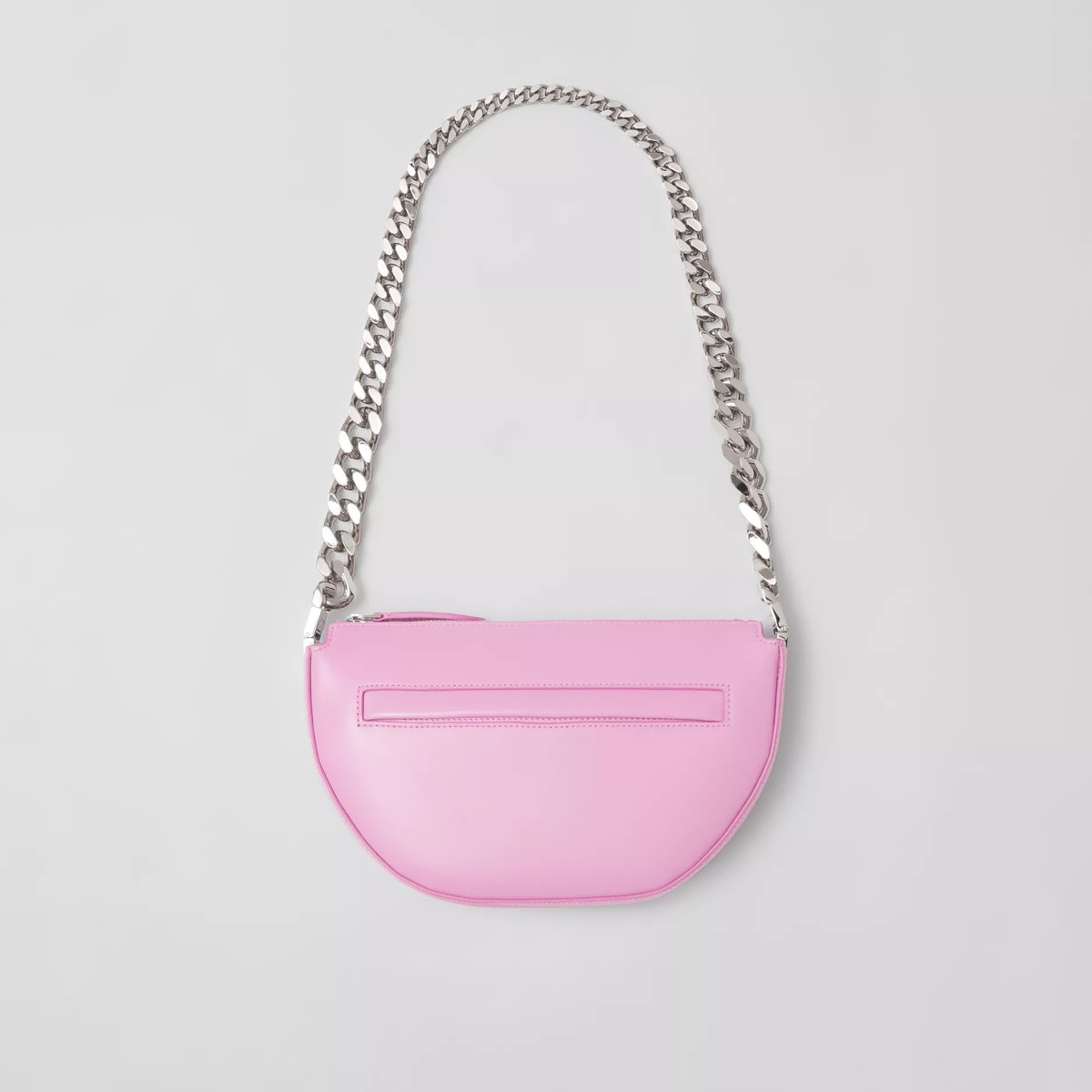 Mini Leather Zip Olympia Bag in Primrose Pink from Burberry.