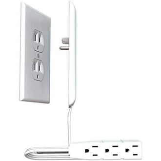 Sleek Socket Ultra-Thin Outlet Cover with 3 Outlet Power Strip
