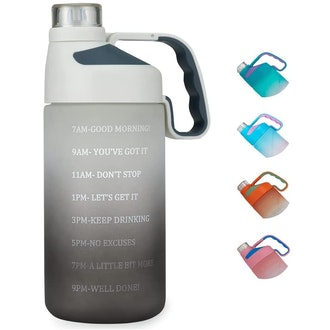 EAILGORL Water Bottle with Motivational Time Marker & Straw