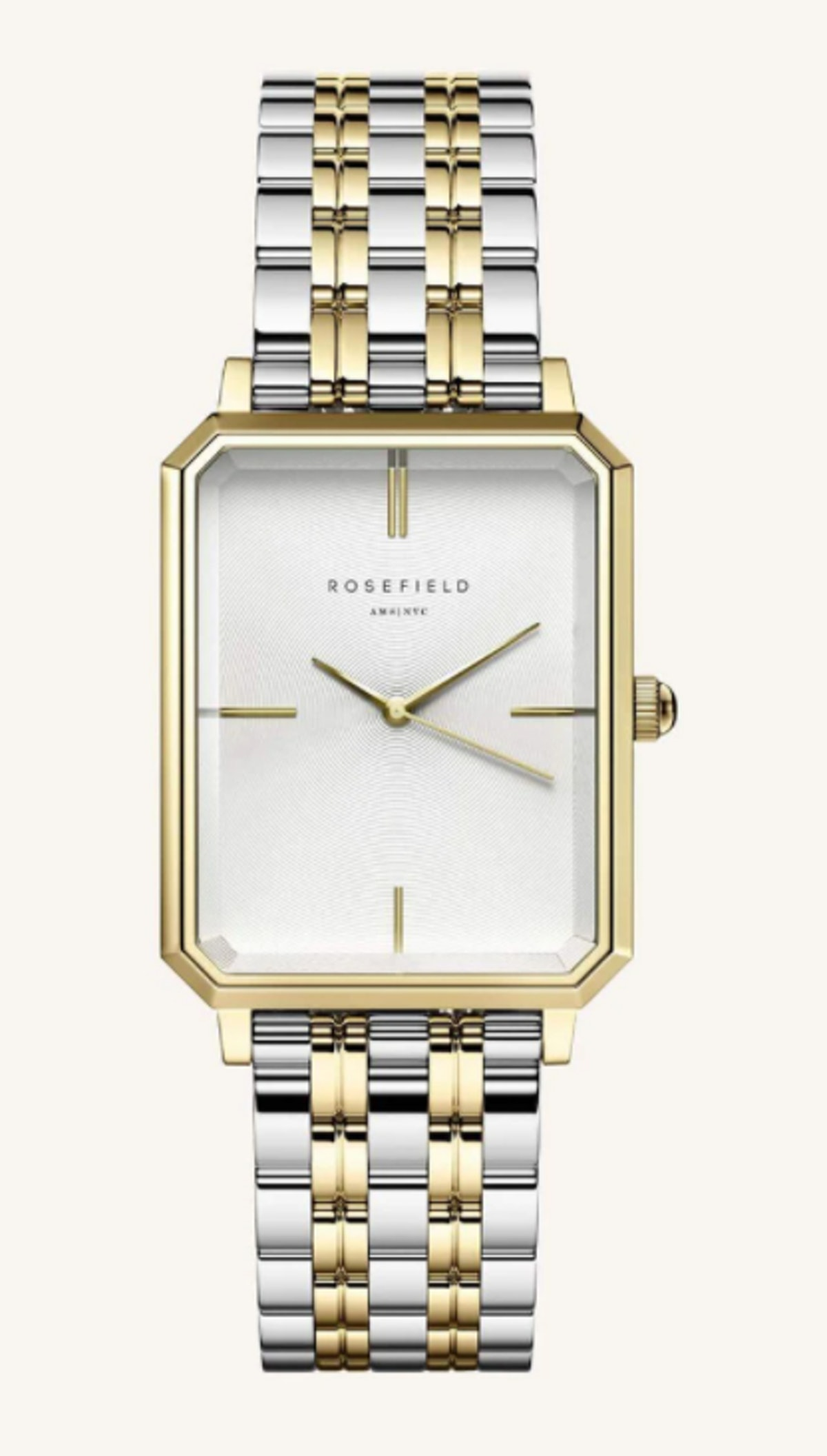 The Octagon White Steel Silver Gold Duotone 23*29mm