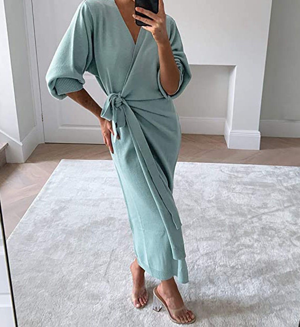 EXLURA Knit Sweater Dress