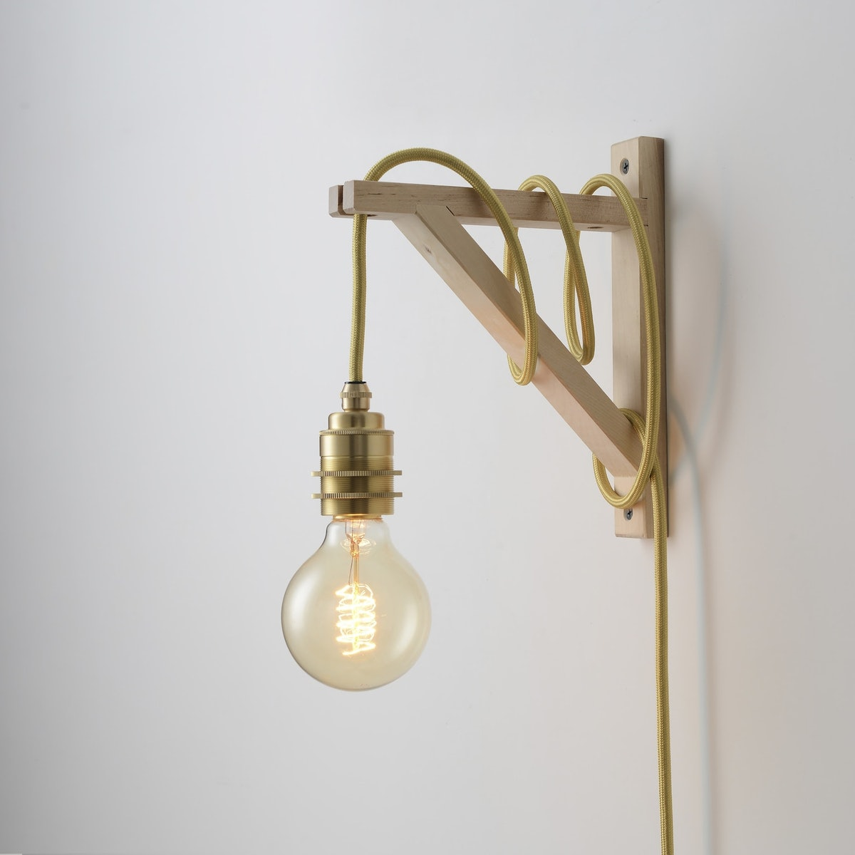 Brass Plug-In Pendant Light