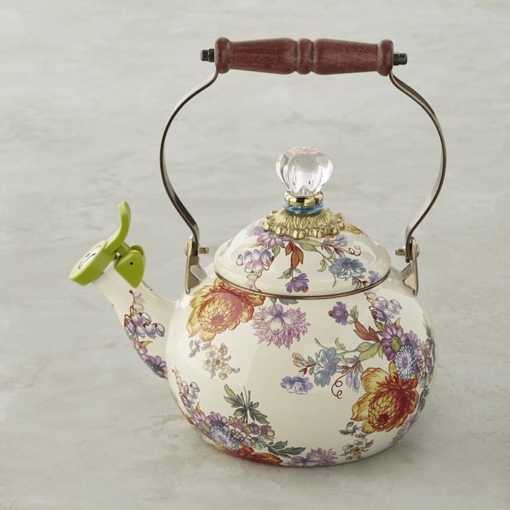 Whistling Flower Market Tea Kettle