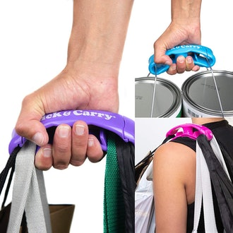 Click & Carry Grocery Bag Carrier with Soft Cushion Grip (2-Pack)