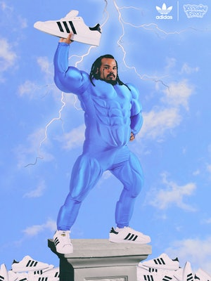 "Adidas x Kerwin Frost ""Superstuffed"" Superstar sneaker"