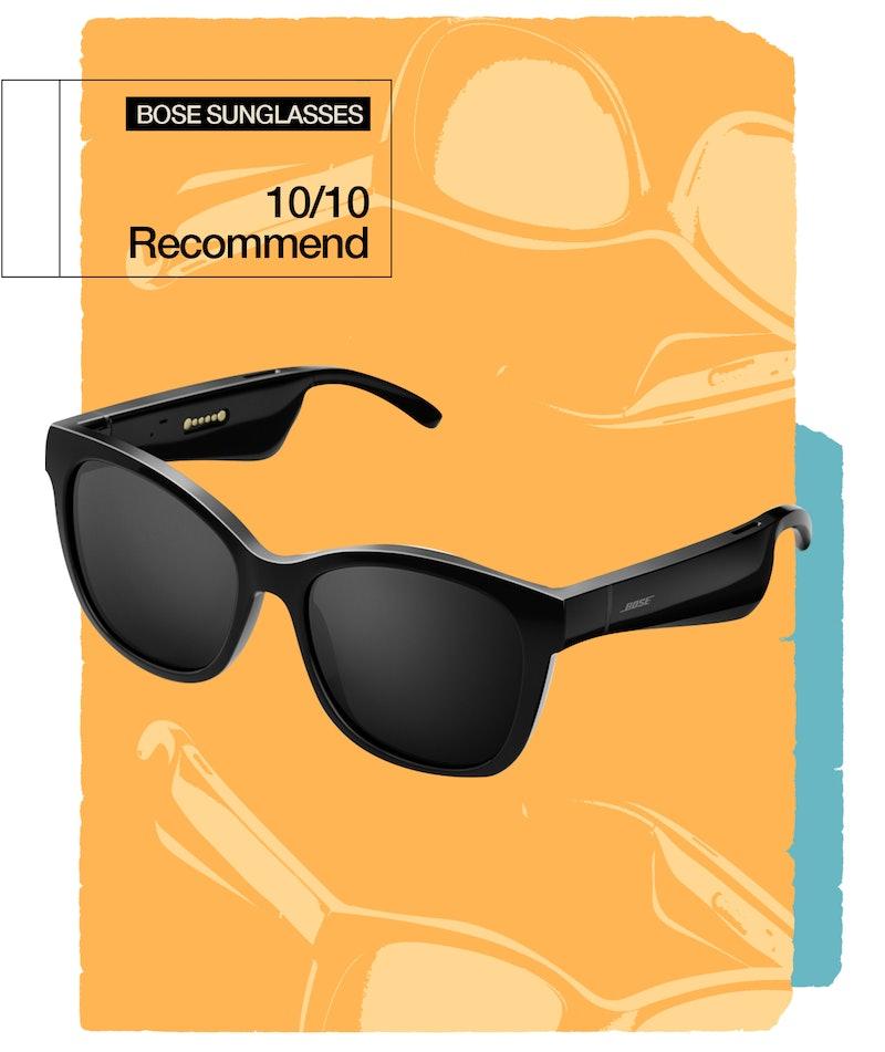 My Bose Frames Soprano sunglasses play music, take phone calls, and make me feel like a boss.
