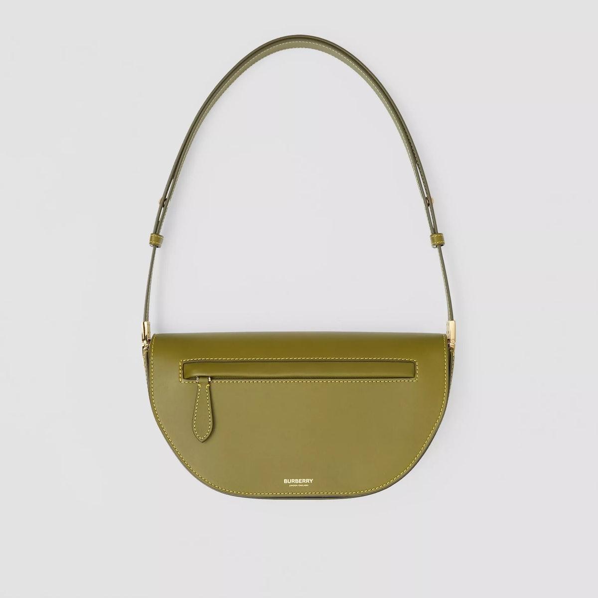 Small Burberry Olympia shoulder bag in Juniper Green.