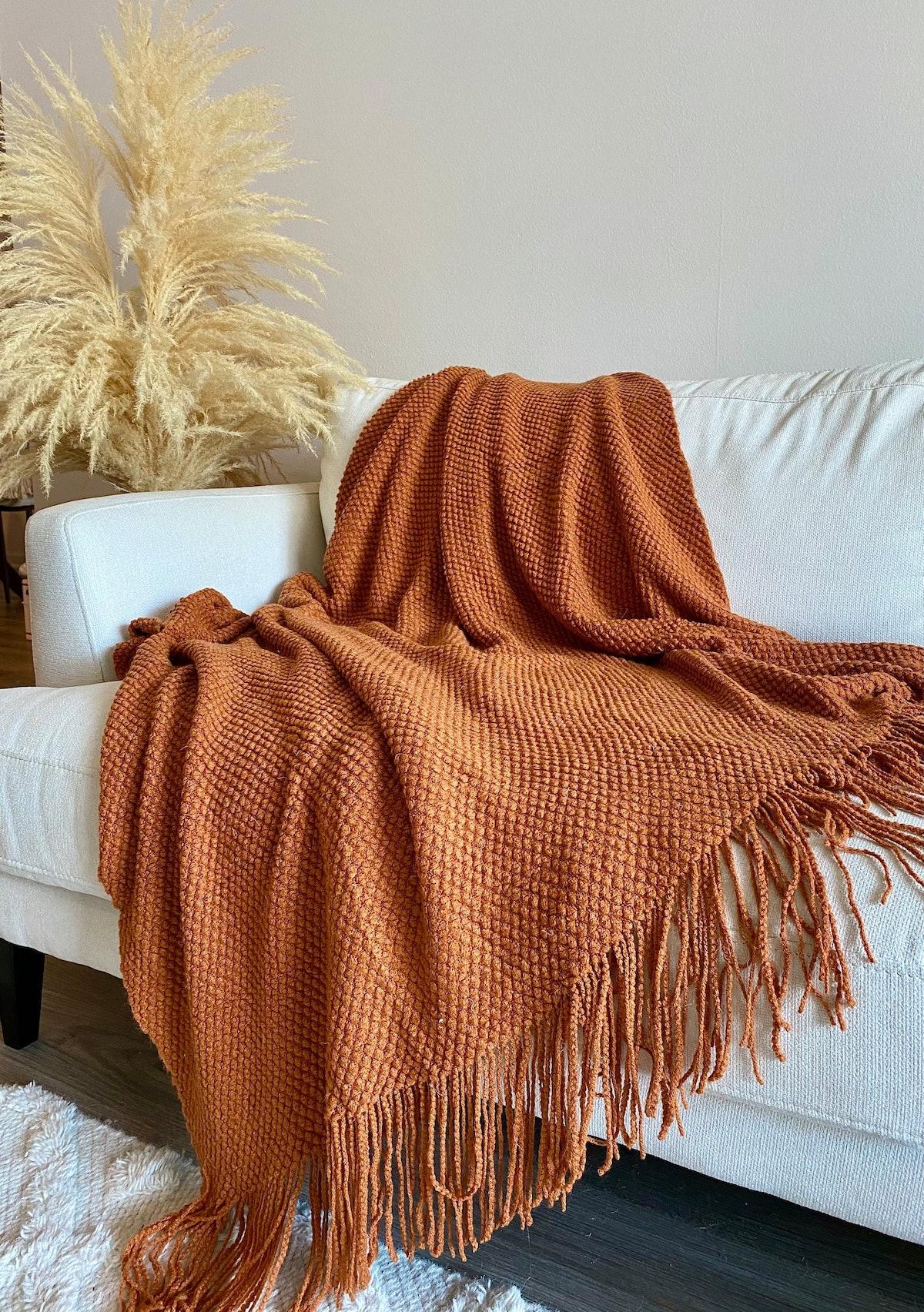 Rust Throw Blanket