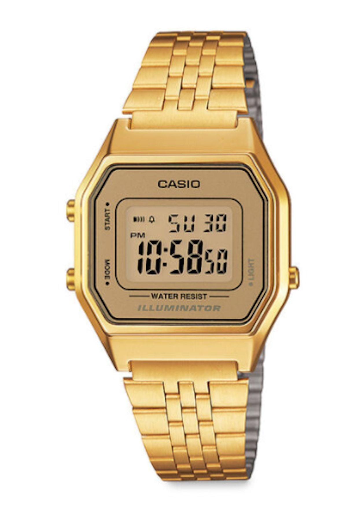 Casio Digital Watch Gold Small