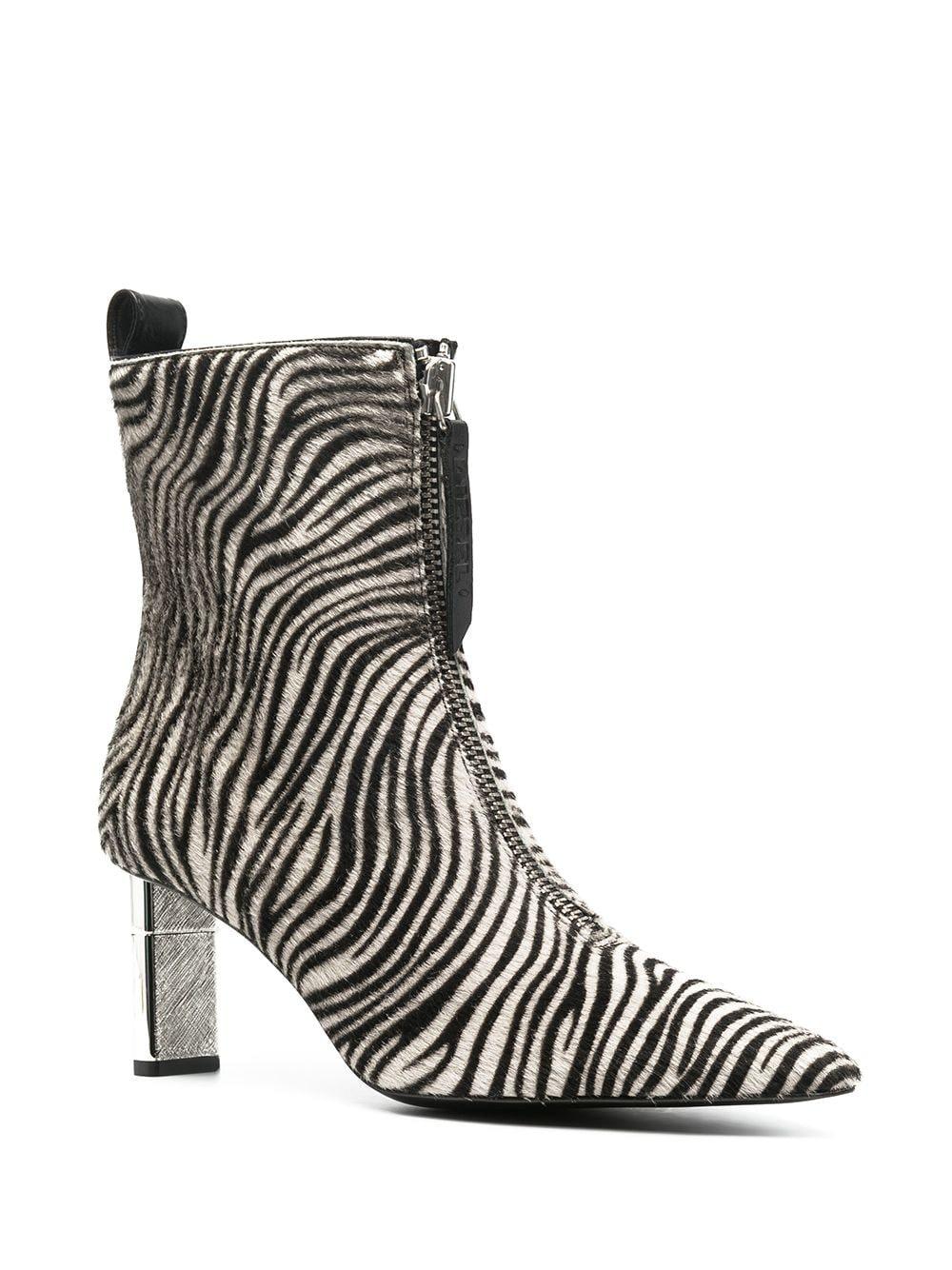Disel Zebra Print 100mm Pony Hair Boots