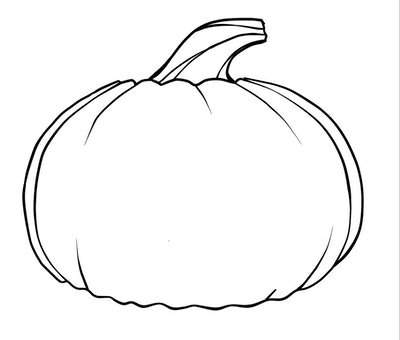 A Simple Pumpkin Coloring Page