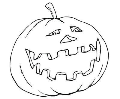 Laughing Pumpkin Coloring Page
