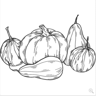 Pumpkins Of All Shapes And Sizes Coloring Page