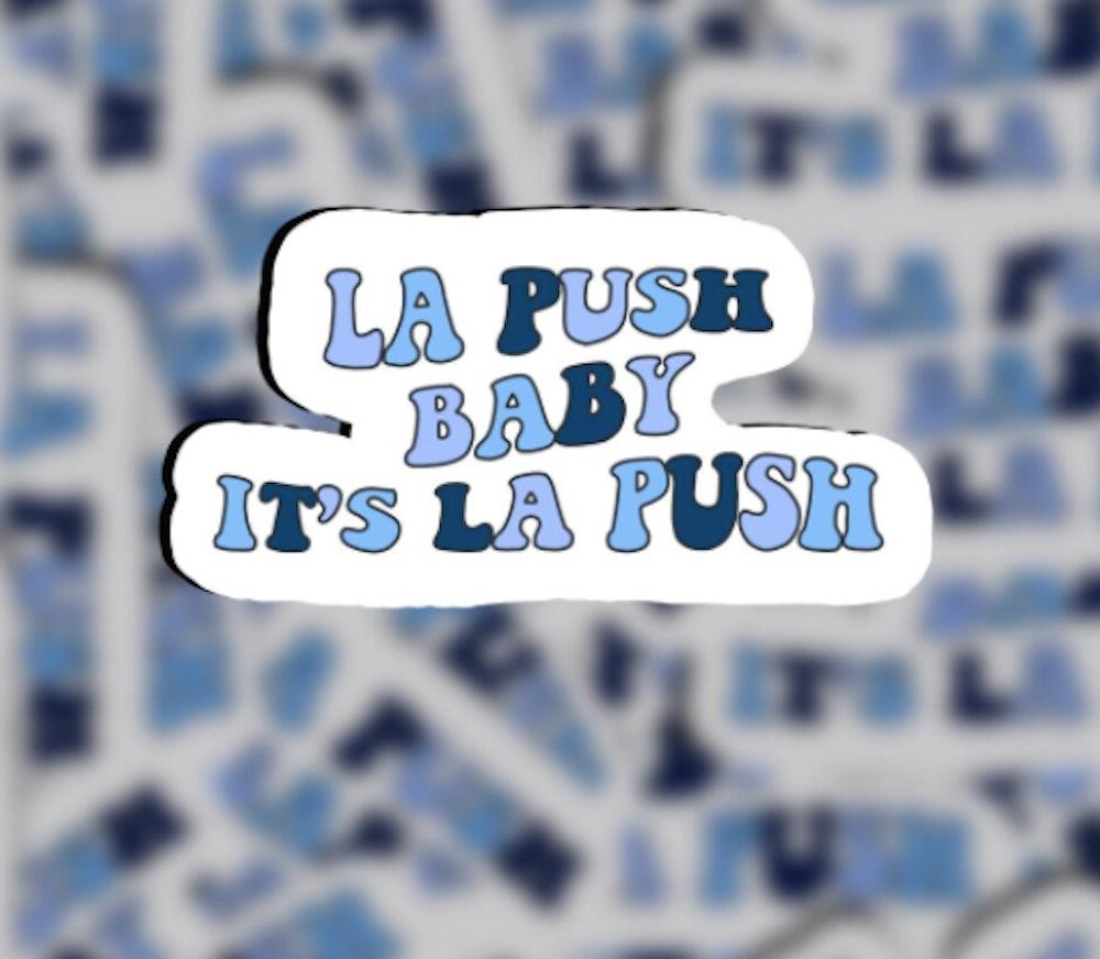 "Twilight Saga Inspired ""La Push Baby, It's La Push"" Quote Sicker"