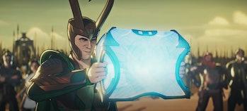 Loki (Tom Hiddleston) unleashing some serious power in What If...?