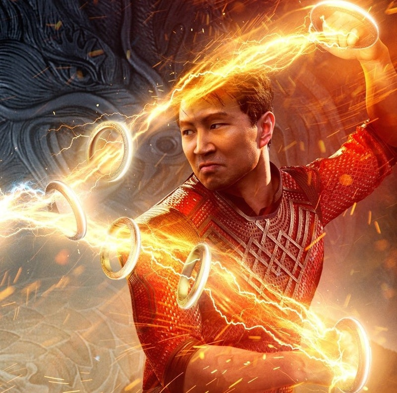 Simu Liu stars as the titular hero in a poster for Marvel's 'Shang-Chi and the Legend of the Ten Rin...