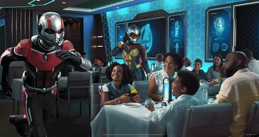 MARVEL guy appearing table side as a family eats