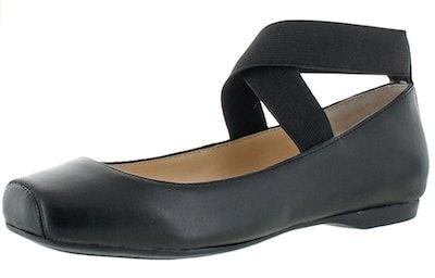Jessica Simpson Mandalaye Square Toe Ankle-Wrap Ballet Flats
