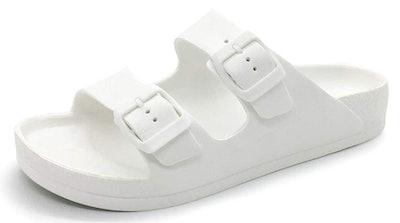 FUNKYMONKEY Double-Buckle Adjustable Flat Sandals